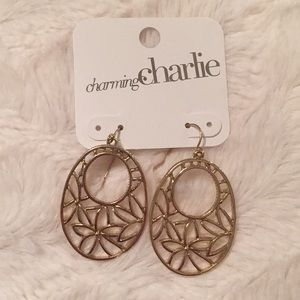 Charming Charlie NWT Gold Dangle Earrings